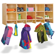 Jonti-Craft® 10 Section Wall Mount Coat Locker without Trays