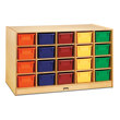 Jonti-Craft® Double-Sided Island + 20 Colored Cubbie-Trays