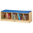 Jonti-Craft® 5 Section Bench Locker - Blue Cushion
