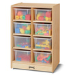 Jonti-Craft® 8 Cubbie-Tray Mobile Unit - with Clear Trays