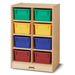 Jonti-Craft® 8 Cubbie-Tray Mobile Unit - without Trays