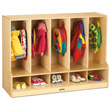 Jonti-Craft® Toddler 5 Section Coat Locker with Step - with Clear Cubbie-Trays