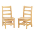 "Jonti-Craft® KYDZ Ladderback Chair Pair - 8"" Height"