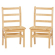 "Jonti-Craft® KYDZ Ladderback Chair Pair - 12"" Height"