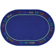 "Chalk & Play Literacy Carpet - 6'9"" x 9'5"" Oval"