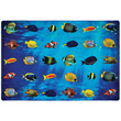 Friendly Fish Seating Carpet - 6' x 9' Rectangle