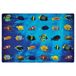 Friendly Fish Seating Carpet - 8' x 12' Rectangle