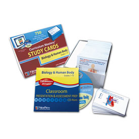 Biology & the Human Body Study Cards & Interactive Whiteboard CD-ROM