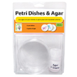 Petri Dishes with Agar - Set of 3