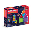 Magformers® Clear Rainbow Solids 40pc Set