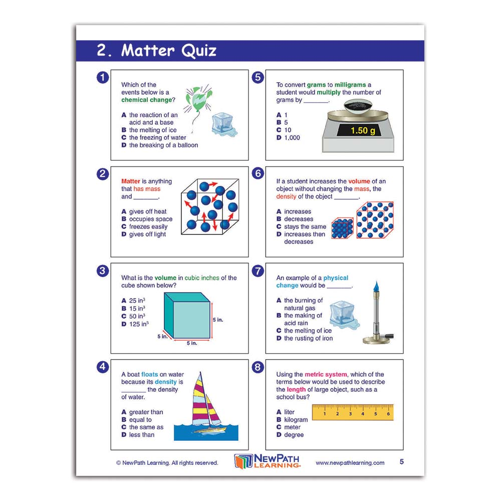 Physical Science: Middle School Physical Science Graphic Organizer