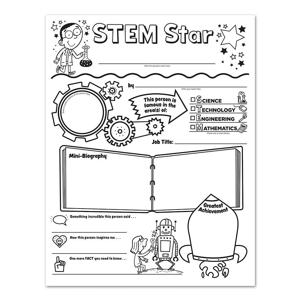 STEM Star Report Posters: Set Of 30 - STEM