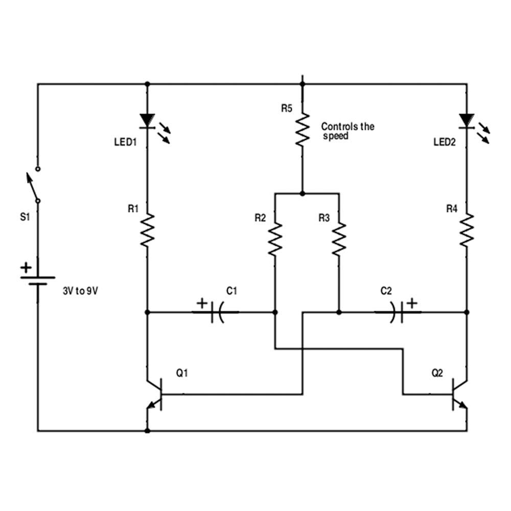 5eboard - how to make led lights blink