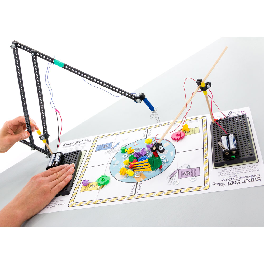 How to make an electromagnetic crane for school