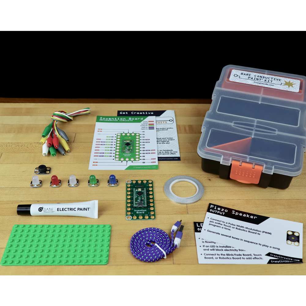 Crazy Circuits With Bare Conductive Paint Stem Eai Education Piezo Driver Led Warning Indicator Circuit Electronic