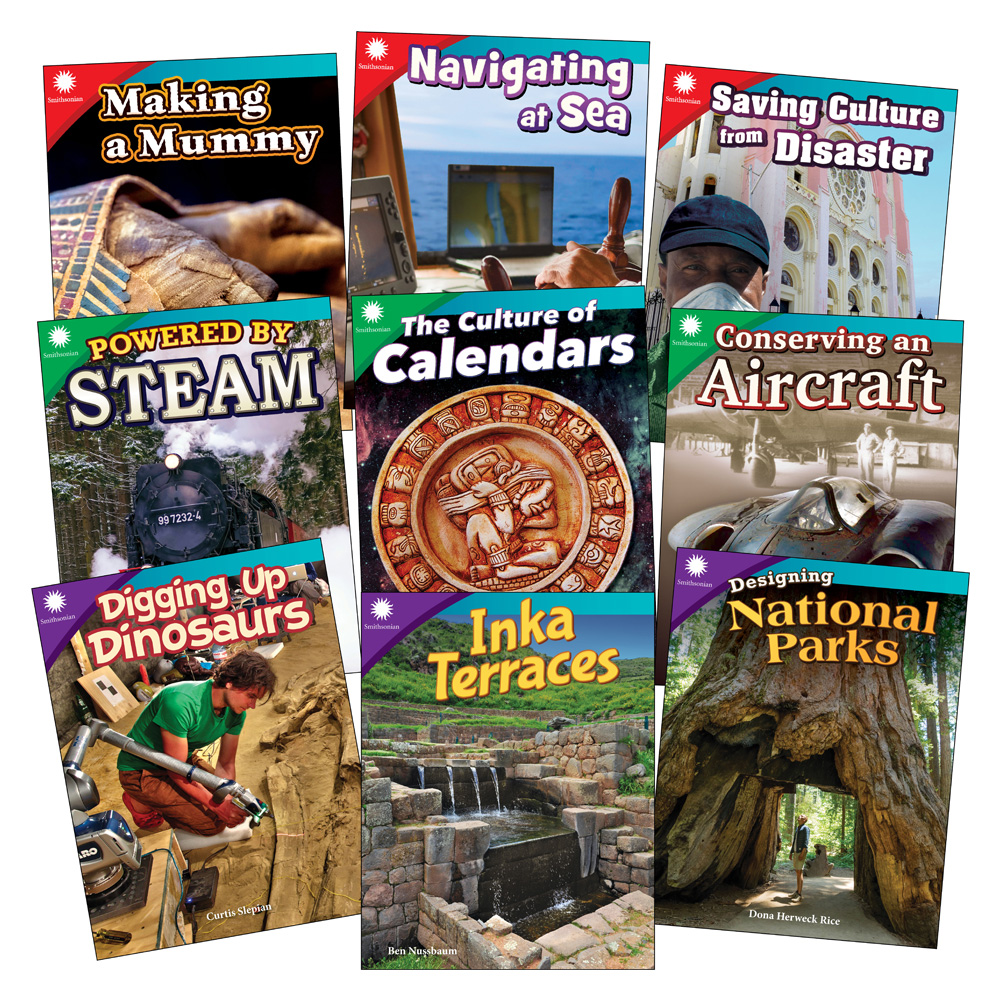 Smithsonian Informational Text: History & Culture 9-Book Set - Grades 3-5