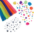 Chenille Stems, Pom Poms, and Googly Eyes Craft Pack