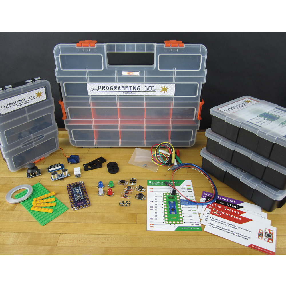 Crazy Circuits Classroom Set: Programing 101 - 4 Pack