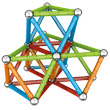 Geomag Magnetic Construction: Confetti - 83 Pieces