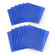 Plus-Plus Baseplate 12 Pack - Blue