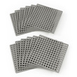 Plus-Plus Baseplate 12 Pack - Gray