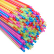 Plastic Straws: Assorted Colors - Set of 250