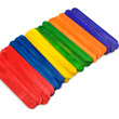 "Craft Sticks - 6"" Assorted Colors: Pack of 100"