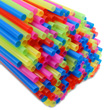 Plastic Straws - Jumbo: Assorted Colors: Pack of 100