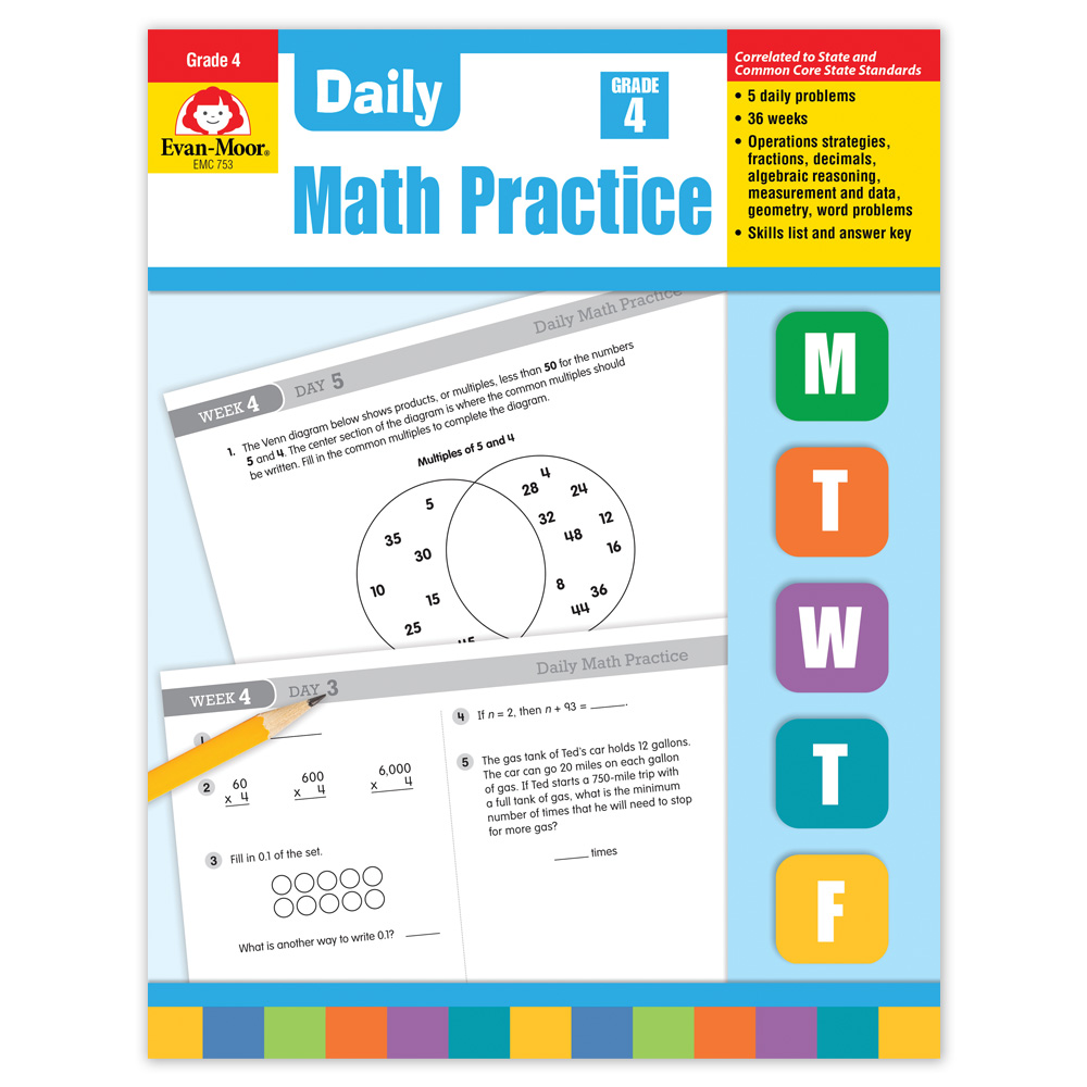 Daily Math Practice Grade 4 Math Manipulatives Supplies