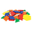 Pattern Blocks: Plastic 0.5 cm - Set of 49