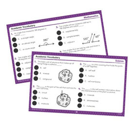 Hot Dots® Academic Vocabulary Card Sets Grades 4-6
