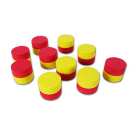 "QuietShape® Foam 2-Color 1"" Counters - Set of 20"