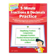 502551 - 5 Minute Fractions & Decimals Practice