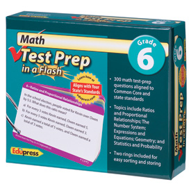 Math Test Prep in a Flash™: Gr. 6