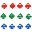 10-Sided Decimal Dice - Set of 12