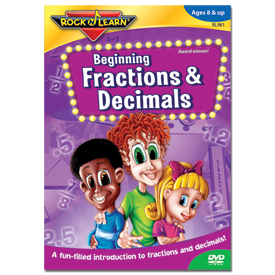 Rock 'N Learn® DVD: Beginning Fractions & Decimals