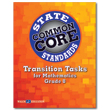 Transition Tasks for Grade 8 Mathematics, State Common Core Standards