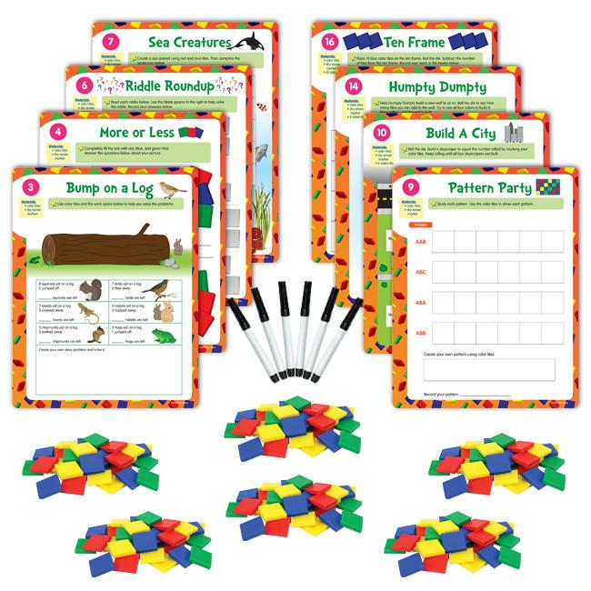 hands on math centers color tiles grade 1 hands on math centers eai education. Black Bedroom Furniture Sets. Home Design Ideas