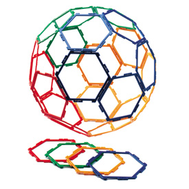 Polydron® Frameworks™: Bulk Pack: 30 Hexagons
