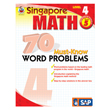 Singapore Math: 70 Must-Know Word Problems: Level 4
