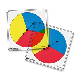 Transparent/Student Spinners - 3 Color: Set of 5
