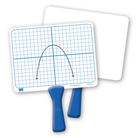 Double-Sided X-Y Coordinate Grid Dry-Erase Paddles - Set of 5