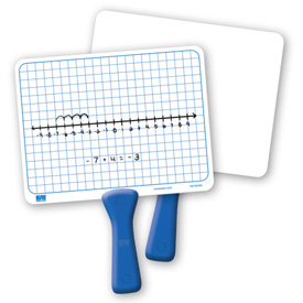 Double-Sided Centimeter Grid Dry-Erase Paddles - Set of 5