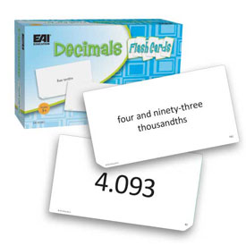Decimals Flash Cards