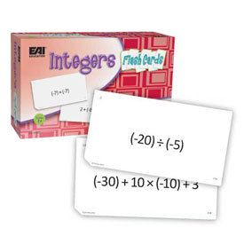 Integers Flash Cards