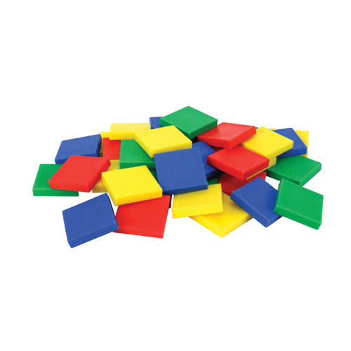 HandsOn Math Centers Color Tile Student Set of 40 HandsOn