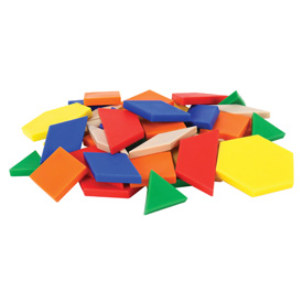 Hands-On Math Centers: Pattern Blocks Student Set of 44