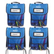 NeatSeat® Classroom Chair Organizer: Set of 4 - Blue