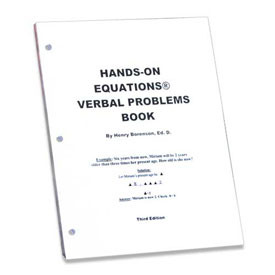 Hands-On Equations® Verbal Problems Book