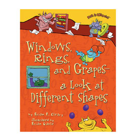 Math is CATegorical® Windows, Rings, and Grapes - a Look at Different Shapes - Softcover